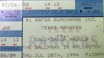 Rangers ticket