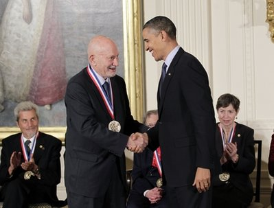 Amnon Yariv and President Obama