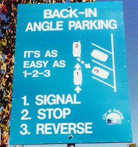 Back In, Diagonal Parking