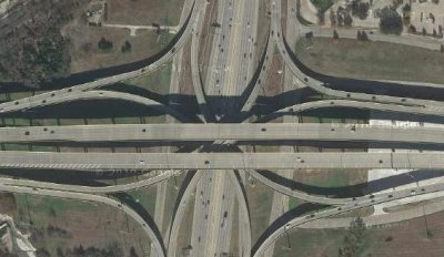 US 75 and Bush Tollway