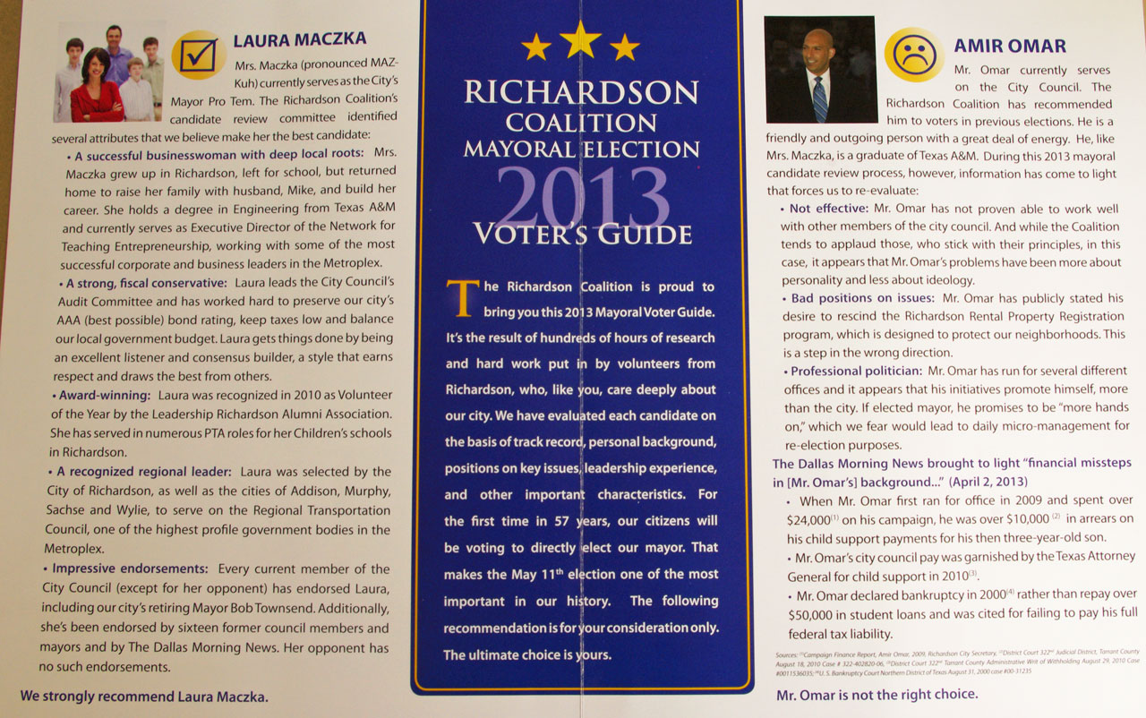 Richardson Coalition Voters Guide